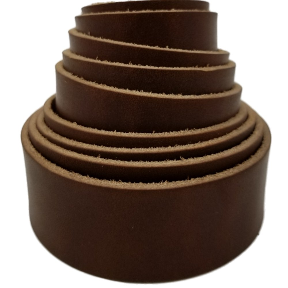 Leather Strips 1 Inch Wide and 4 Ounce Thick 1/16 Inch Thick (Medium Brown) by TOFL (Image #2)