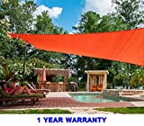 Quictent 26 X 20 ft 185G HDPE Rectangle Sun Sail Shade Canopy UV Block Top Outdoor Cover Patio Garden Red