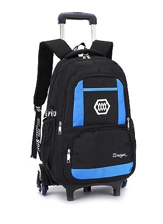 04b1d50c76 Kids Rolling Backpack Phaedra FU Luggage Six Wheels Trolley School Bags  (Blue)