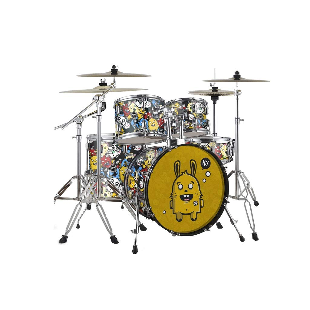 X-CAT Kindertrommeln Anfänger Einführung Jazz Drum Professional Spielen Percussion Für Erwachsene (Farbe   Monster, größe   S) Monster Large