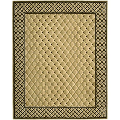 Nourison Vallencierre (VA26) Beige Rectangle Area Rug, 8-Feet 3-Inches by 11-Feet 3-Inches (8'3