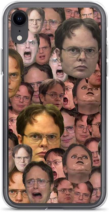 Horseshoe's Compatible with iPhone XR Case The Office Dwight Schrute Meme Faces Pure Clear Phone Cases Cover