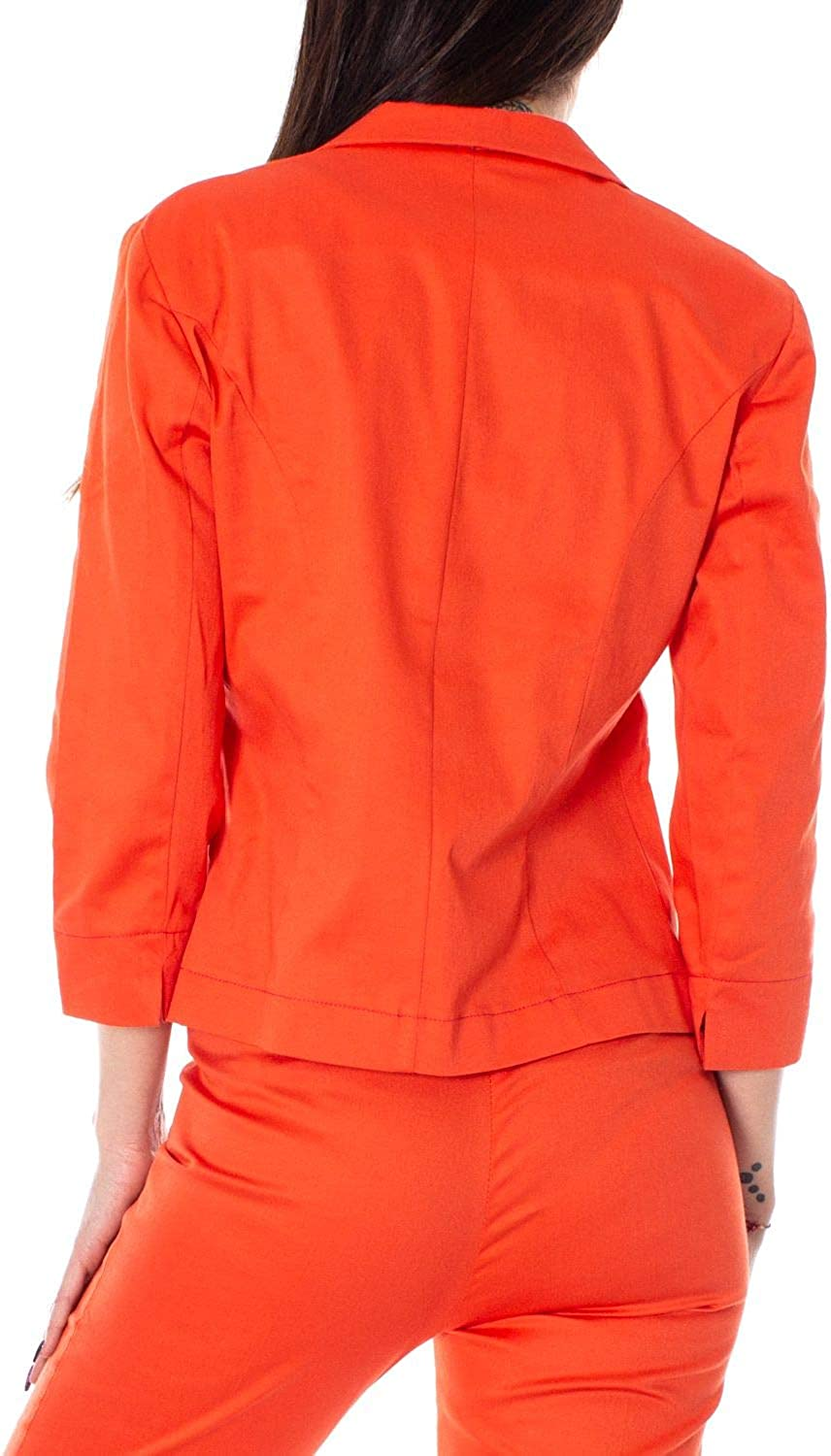 AK/È Luxury Fashion Womens Blazer Summer Orange