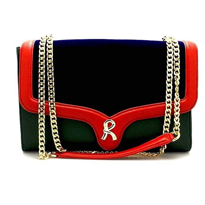 ROBERTA DI CAMERINO Borsa ANNA Donna Blu-Verde - RC1561-305  Amazon.it   Abbigliamento 165c74d3fb9