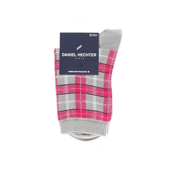 Mi-Calcetines de algodón, diseño de cuadros escoceses Gris Jaspeado: Amazon.es: Ropa y accesorios