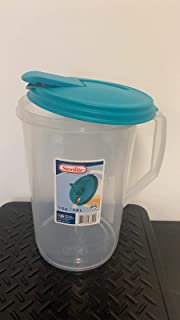 product image for Sterilite Round Pitcher, One Size, Clear & Blue Atoll