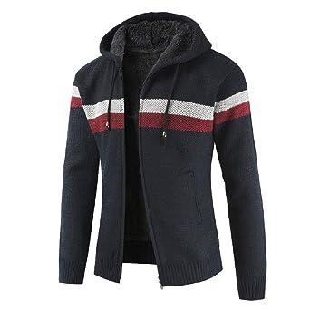 Cárdigan Básico para Hombre ZARLLE Suéter de hombre Otoño invierno Cárdigan de punto de hombre Abrigo