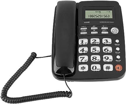 Bewinner Teléfono con Cable, teléfono de Escritorio, teléfono Fijo inalámbrico con contestador automático para el hogar/Hotel con diseño sin batería/identificador de Llamadas(Negro): Amazon.es: Electrónica