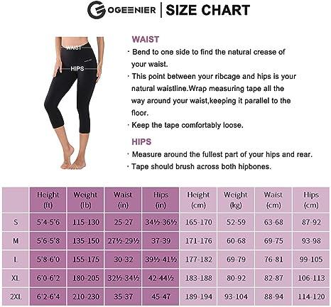 Ogeenier 3/4 Mallas Deportivas Mujer Pantalón Deportivo de Mujer Malla Deportivas Leggings para Yoga Fitness Gimnasio Running Estiramiento Pilates: Amazon.es: Deportes y aire libre