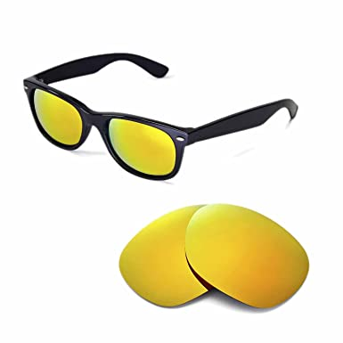 baf4f16c2dff4 Walleva Replacement Lenses for Ray-Ban Wayfarer 2132 55mm-9 Options  Available (24K