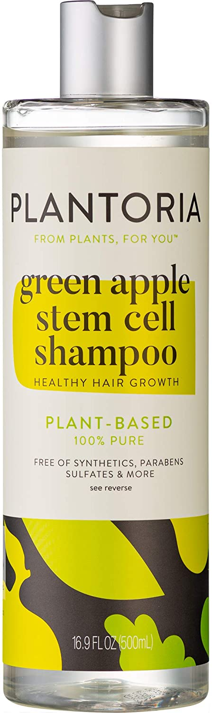 Plantoria Green Apple Stem Cell Shampoo   Plant Based Pure Vegan Organic Hair Growth Shampoo for Women, Men, Teens, Kids   Natural Hair Shampoo With Seaweed, Aloe Vera, Swiss Apple, Tea Tree & More