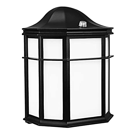 LEONLITE Outdoor Wall Light LED, Dusk to Dawn Photocell, Energy Star & ETL Listed