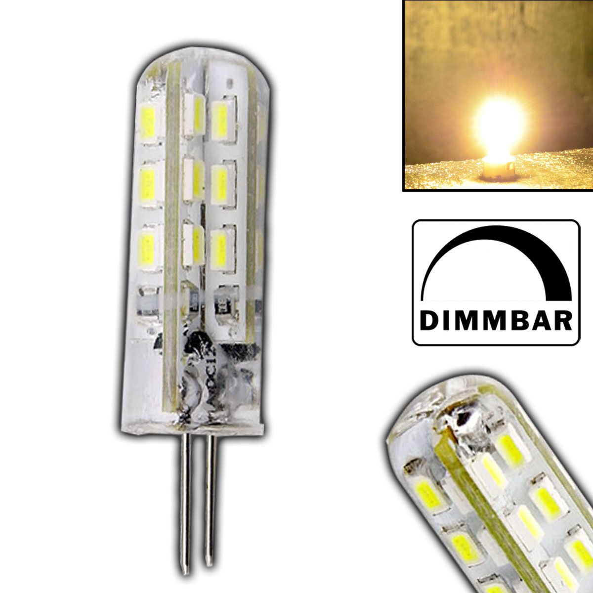 Dimmbare g4 high power led warmwei mit 15 watt dimmbar und 24 dimmbare g4 high power led warmwei mit 15 watt dimmbar und 24 smds 12v dc 125lm fr dimmer halogenfrmig stiftsockel 330 leuchtmittel g4 lampensockel parisarafo Choice Image