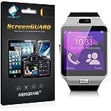 3 x Membrane Gearmax Smartwatch DZ09 Protector de Pantalla - [Clear Transparente]