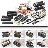 Silicone Bakeware-Kit per preparare il Sushi, colore: nero, 10 pezzi