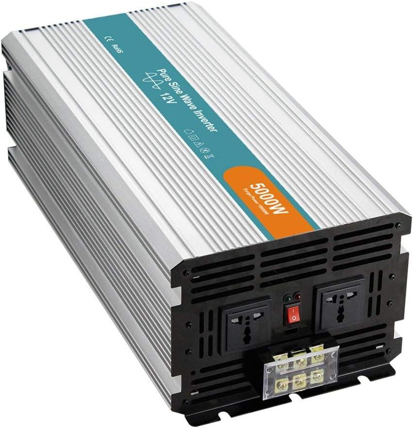 LQQ El Nuevo 5000w De Potencia Continua De Onda Sinusoidal Pura Inversor De La Energía, 12V / 24V / 48V A 220V 10000W Pico De Alta Potencia del Convertidor, Convertidor Adaptador De Corriente