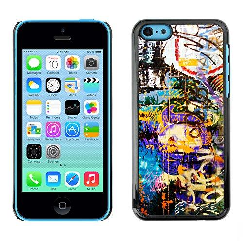 Premio Sottile Slim Cassa Custodia Case Cover Shell // V00002245 Graffiti wall // Apple iPhone 5C
