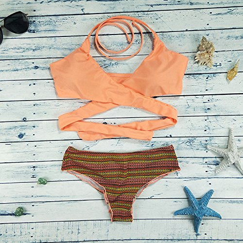 immagini costume m dimagrante Pure TIANLU bikini Beachwear spallacci Low color split bagno set sexy e split waist 2 Fashion da wqnSgAT