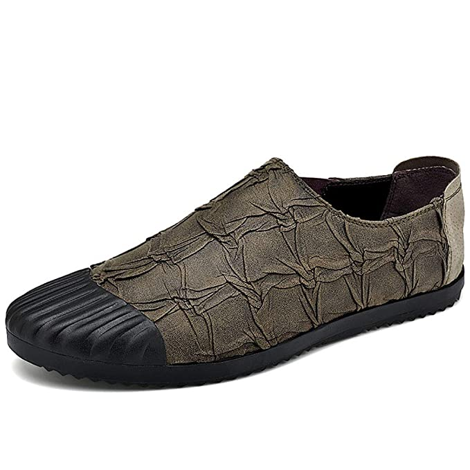 FHTD Zapatos De Hombre 2018 Nuevos Mocasines Y Slip-ONS Zapatos De Conducción Para Zapatos: Amazon.es: Ropa y accesorios