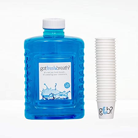 Mouthwash Refill of 6 Bottles 720 Cups – Alcohol-Free – Six 1.5 Liter Mouthwash Bottles and a Box of 720 Cups.