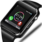 Smart Watch - Sazooy Bluetooth Smart Watch Support Make/Answer Phones Send/Get Messages Compatible Android iOS Phones with Ca
