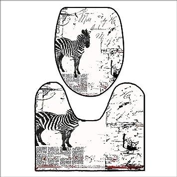 Amazon.com: qianhehome - Cojín para inodoro, diseño de rayas ...