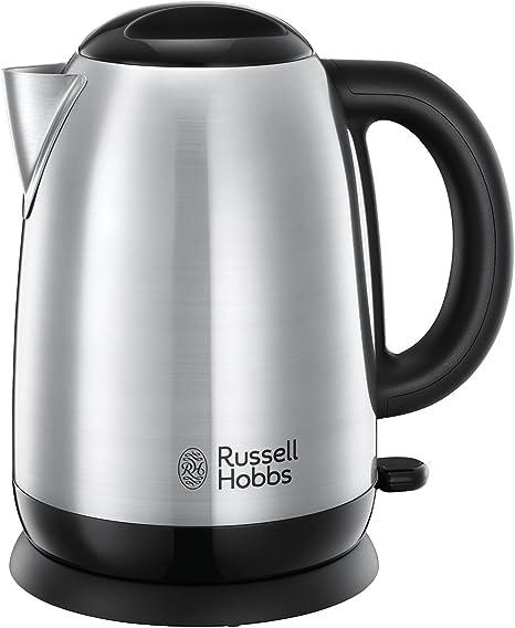 Russell Hobbs Adventure - Hervidor de Agua Eléctrico (2400 W, 1,7l, Acero Inoxidable, Gris) - ref. 23912-70: Amazon.es: Hogar