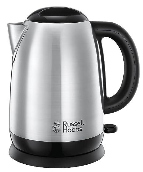 Russell Hobbs Adventure - Hervidor de Agua Eléctrico (2400 W, 1,7l, Acero Inoxidable, Gris) - ref. 23912-70