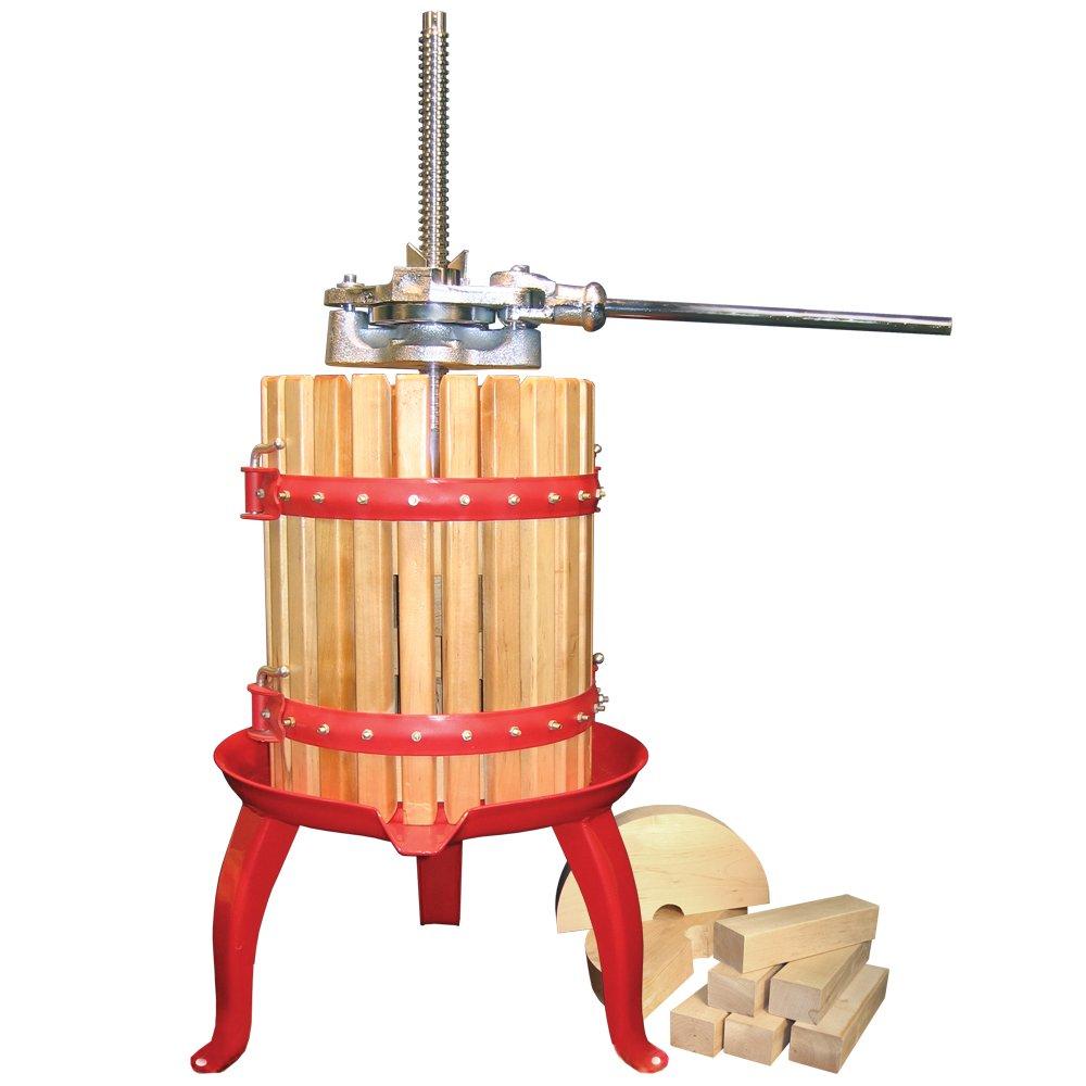 Fruit crusher grape apple crusher grinder for grape apple fruit - Amazon Com Weston Fruit And Wine Press 05 0101 16 Quart Capacity With Pressing Blocks Heavy Duty Wine Making Presses Kitchen Dining