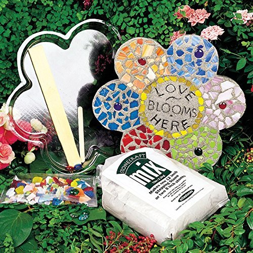 Milestones Stepping Stone Kit 12 in. Mosaic Flower by Milestones