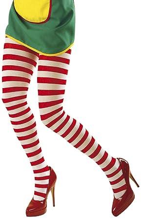 Desconocido Pantyhose rayado rojo / blanco ** Utilice 4783 Primera Accesorio para la ropa interior