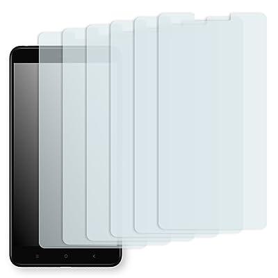 """6 x protectores pantalla Golebo para Xiaomi Mi Max 2. Lámina protectora adhesiva invisible """"Crystal Clear"""". Fabricado en Alemania. (Intencionadamente es más pequeña que la pantalla ya que esta e"""