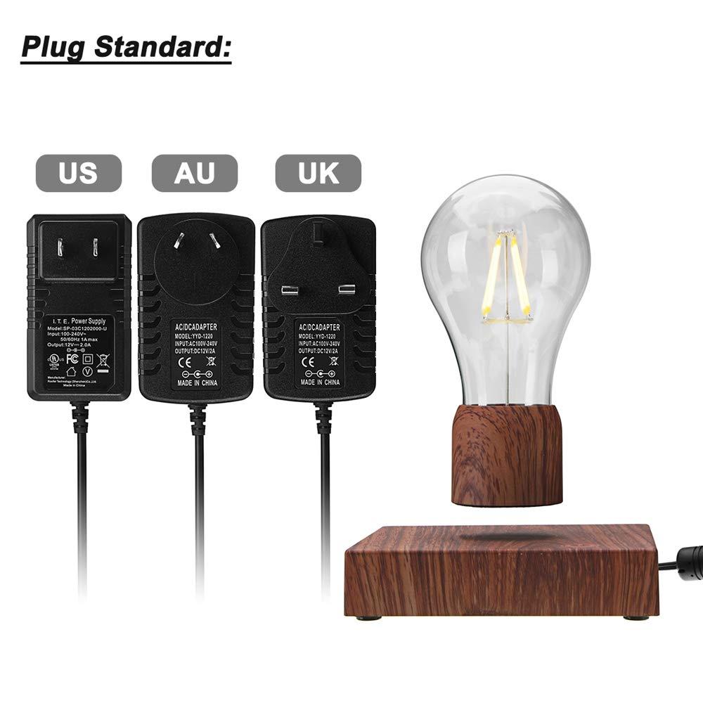 Disumos Magnetic Levitating Lamp Magnetic Levitating Floating LED Bulb Night Light Gift Home Desk Lamp Decor AC110-240V - UK Plug by Disumos (Image #3)