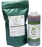 VermisTerra Organic Test Kit - Premium Earthworm Castings (2 LB) & Nutrient Microbe Tea (Quart)