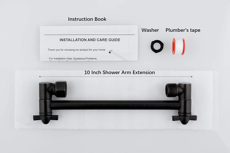Adjustable for Any Shower Angels Shower Head Extender Universal Shower Arm Brushed Nickel Straight Shower Arm