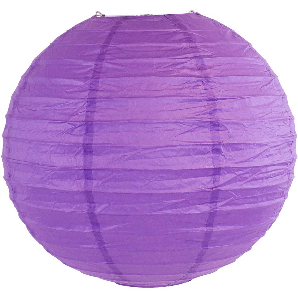 Just Artifacts 16'' Royal Purple Chinese/Japanese Paper Lantern/Lamp 16'' Diameter - Just Artifacts Brand