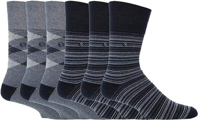 Hommes doux élastique Diabetic Socks Chaussettes En Coton Doux nid d/'abeille Non femme Taille 6-11