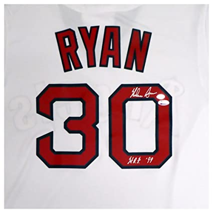 California Angels Nolan Ryan Autographed Signed White Majestic Cooperstown  Cool Base Jersey HOF 99 Size L aec0da375