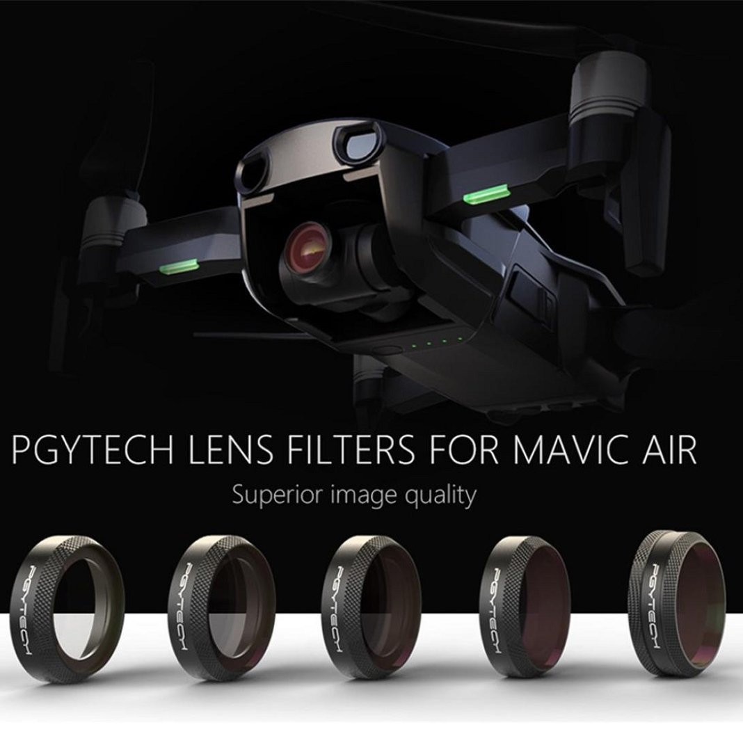 CPL HD Cam/éra Filtre Filtres Filtres Pour DJI MAVIC AIR ND4 ND8 DJI MAVIC Air L Filtre Set de Six Pi/èces,Sisit UV ND32 Mod/èle A ND16