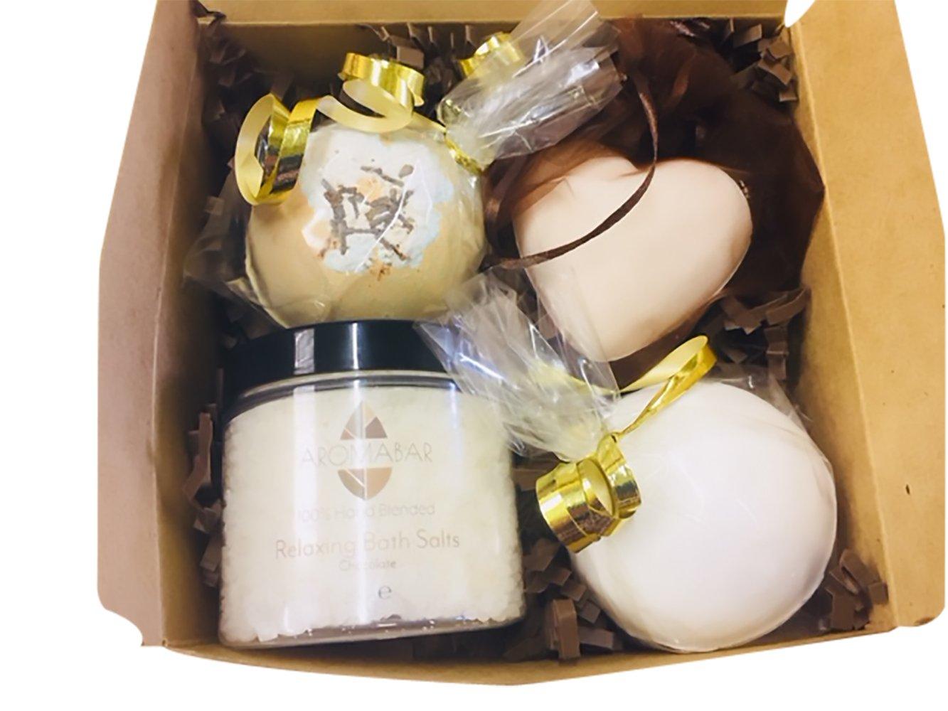 Chocolate Indulgence Bath Bomb Pamper Box Gift Set Aromabar