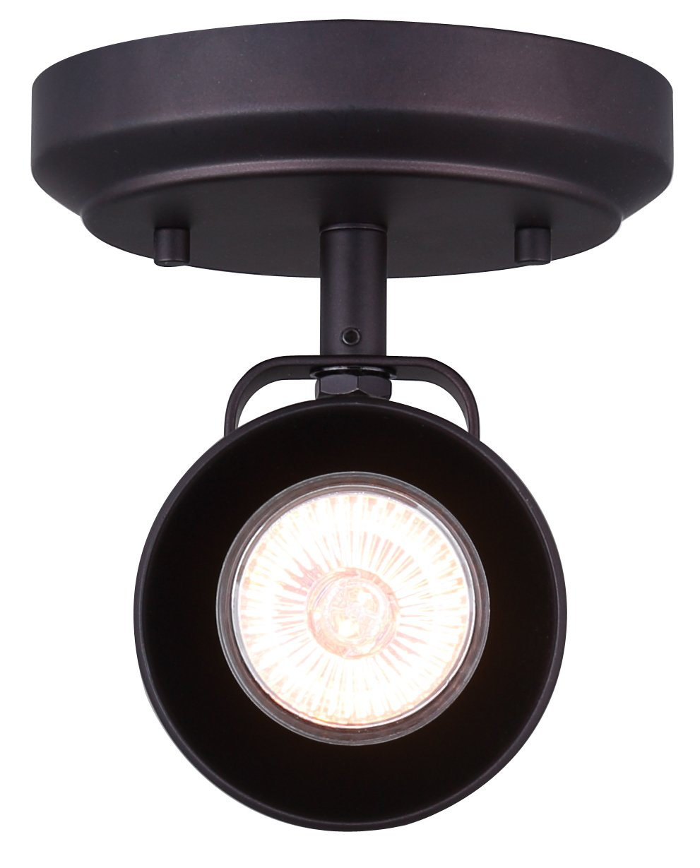 CANARM ICW622A01ORB10 LTD Polo 1 Light Ceiling/Wall, Oil Rubbed Bronze with Adjustable Head