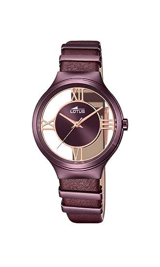 Lotus Reloj Mujer de Analogico con Correa en Cuero 18340/1: Amazon.es: Relojes