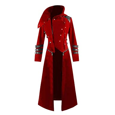 Hooded Trench Party Costume Tailcoat Long Sleeve Jacket Fashion Mens Jackets and Coats Chaqueta Hombre,