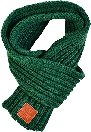 Amazon.com: Kids Winter Warm Knit Scarves Fashion Solid Color Cable Scarf  Boys Girls: Clothing