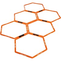 STRPRETTY BASIC Agility Speed Rings, Hexagon Footwork Rings Set of 6 Rings, Agility Training Equipment for Foot Work