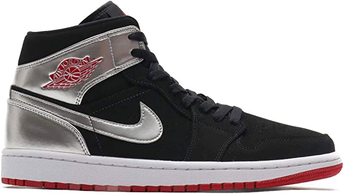 air jordan 1 mid rouge noir