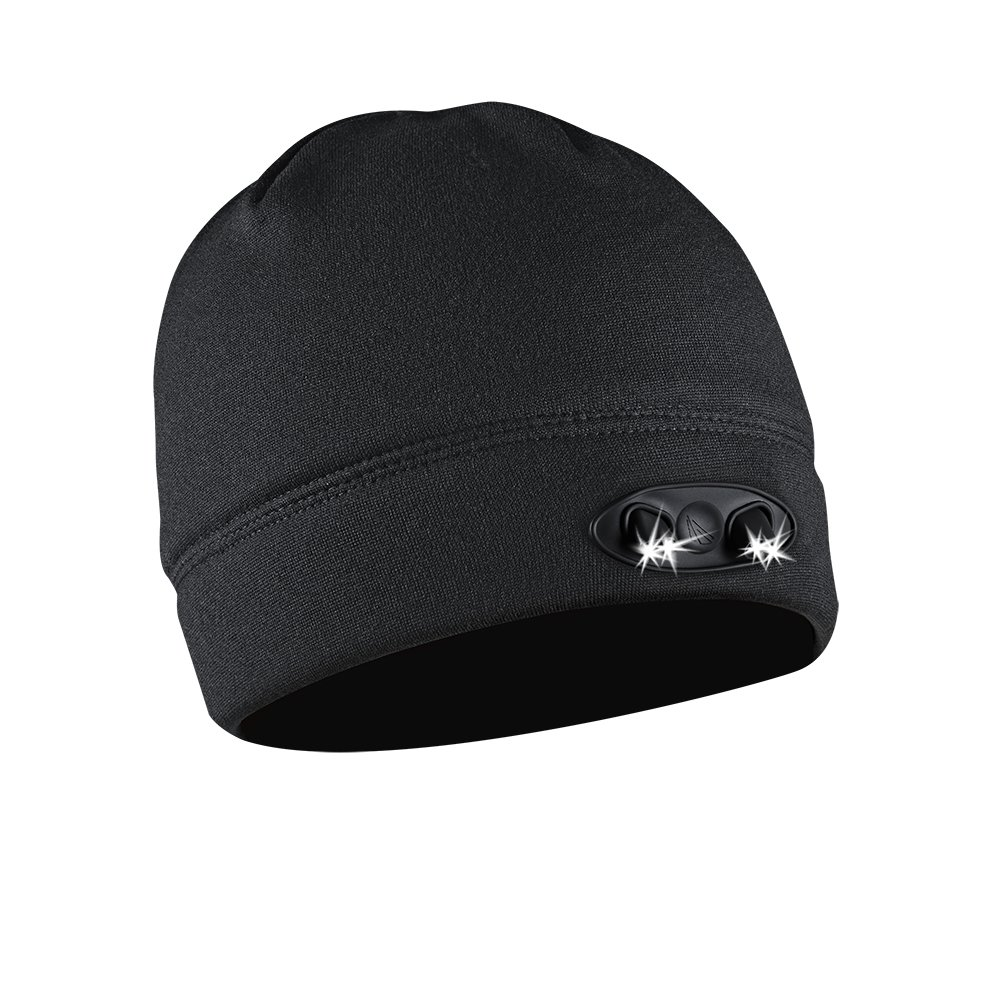 eafa5538906 POWERCAP LED Beanie Cap 35 55 Ultra-Bright Hands Free LED Lighted Battery  Powered Headlamp Hat - Black Fleece (CUBWB-4553)