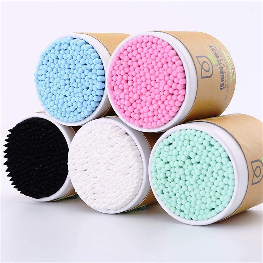 Maquillage Coton-Tige Bambou avec T/ête Double pour Oreille Nettoyage Haodene 200 Unit/és Cotons-tiges Biod/égradables en Bambou