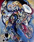 Wassily Kandinsky - Due Ovali, Canvas Art Print, Size 24x30, Non-Canvas Poster Print