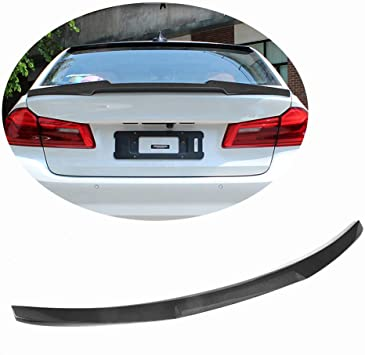 Performance Style Wing BMW 5 Series G30 and F90 M5 SNA Carbon Fiber Rear Trunk Lip Spoiler Compatible for 2017